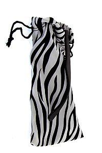 Black & White Zebra Fabric Sunglass Holder     #0-zebra