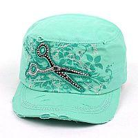 Mint Rhinestone Scissor Hat         #AH-KBV-981MINT