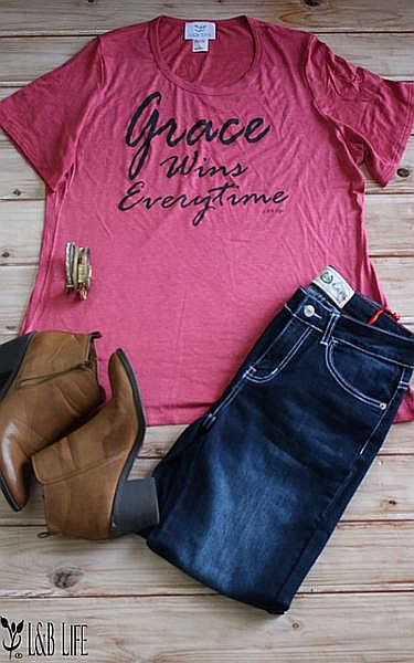 Berry Grace Wins Every Time Shirt           #LB-3319