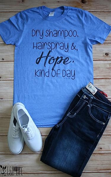Blue Dry Shampoo, Hair Spray & Hope Shirt     #LB-3322