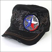 Black USA Star Hat