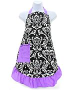 Purple Damask Apron                   #AH-AP1200-NFLPP