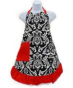 Red Damask Apron            #AH-AP1200-NFLPR