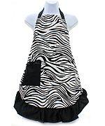 Black Zebra Apron               #AH-AP1200-ZPBK