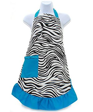 Blue Zebra Apron         #Lu-BlueZebraApron