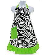 Green Zebra Apron                #AH-AP1200-ZPGN