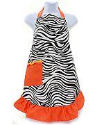 Orange Zebra Apron                 #AH-AP1200-ZPOR