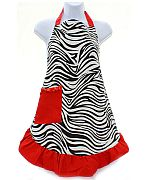 Red Zebra Apron        #AH-AP1200-ZPRD