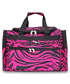 Fuchsia Zebra Duffel Bag