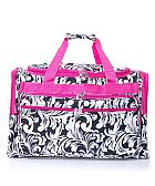 Hot Pink Leaf Duffel Bag