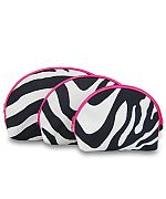 3pc.Pink Zebra Set