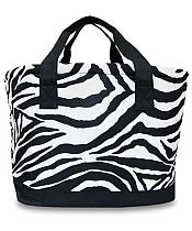 Large Black Zebra Cooler