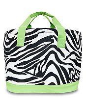 Large Green Zebra Cooler