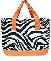 Large Orange Zebra Cooler