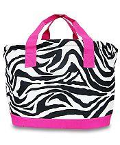 Large Pink Zebra Cooler