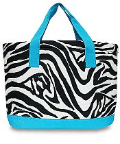 Large Turquoise Zebra Cooler