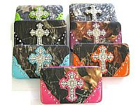 Rhinestone Camo Cross Wallets                 #LGH-AW8019