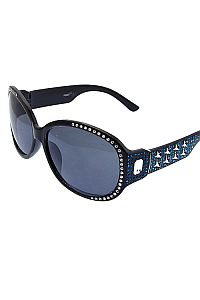 Blue Rhinestone Star Sunglasses            #O-BLUE-JSE-3625