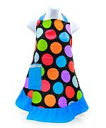 Blue Multi Polka Dot Apron      #LU-BlueDotApron