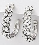 Clear Rhinestone Earrings