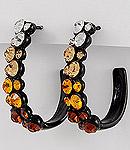 Brown Rhinestone Earrings