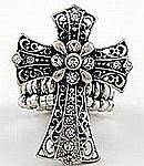 Filigree Cross Stretch Ring