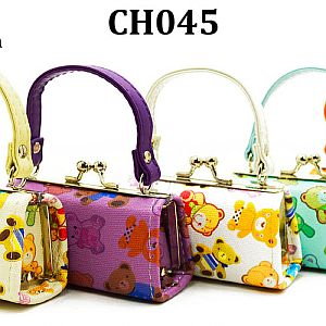 One Dozen Teddy Bear Design Mini Purses  #CHO45