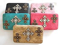 Rhinestone Triple Cross Wallets                 #LGH-CR5003