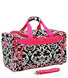 Black & Pink Damask Bag