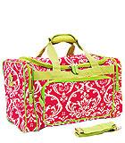 Fuchsia & Green Damask Bag
