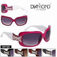 Rhinestone Scroll Design Sunglasses     #CTSW-DI109
