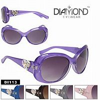 Rhinestone Diamond Heart Sunglasses    #CTSW- DI113