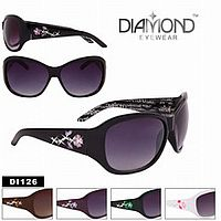Rhinestone Flower Design Sunglasses      #CTSW-DI126