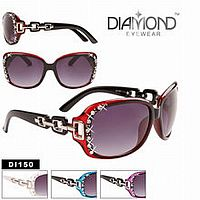 Rhinestone Bling Diamond Square Side Sunglasses      #CTSW-DI150