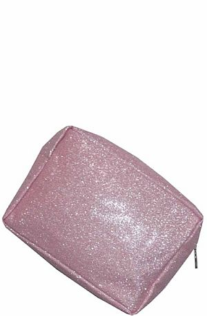 Light Pink Glitter Cosmetic Bag    #LU-LPNKGLE