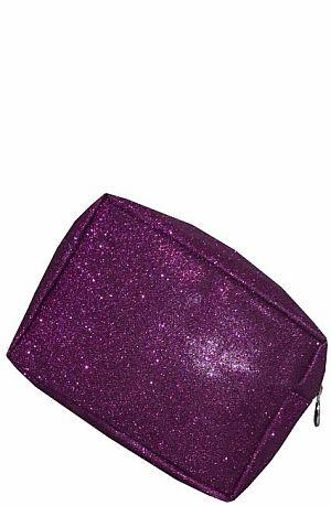Purple Glitter Cosmetic Bag    #LU-PGLE