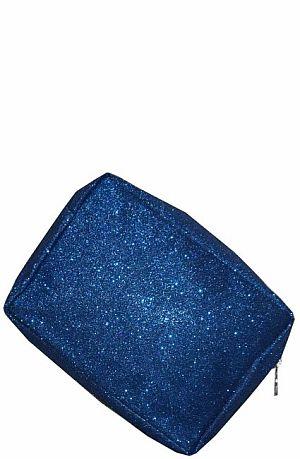 Blue Glitter Cosmetic Bag    #LU-BLUEGLE