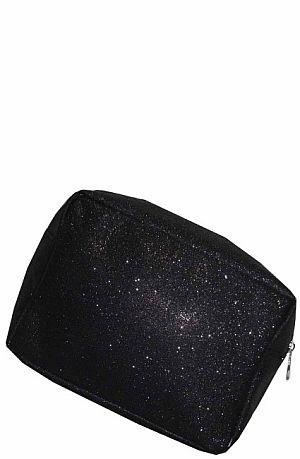 Black Glitter Cosmetic Bag    #LU-BLKGLE