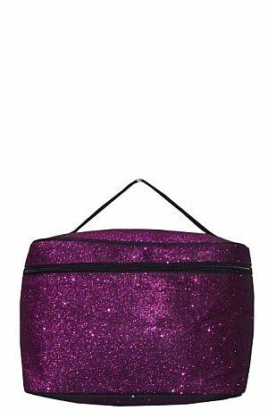 Glitter Glam Purple Cosmetic Bag  #LU-PPLE
