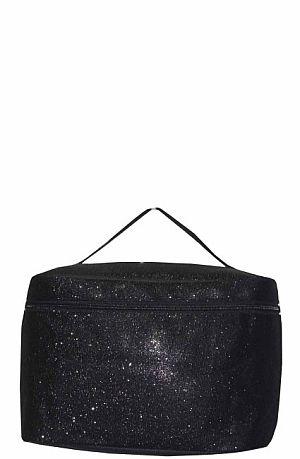 Glitter Glam Black Cosmetic Bag   #LU-BLK
