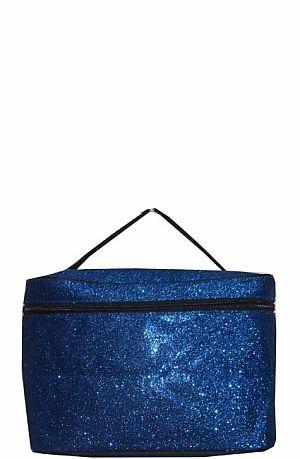 Glitter Glam Blue Cosmetic Bag   #LU-BLUEG