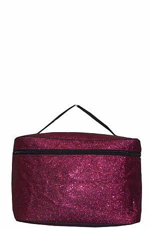 Glitter Glam Hot Pink Cosmetic Bag  #LU-HOTPINK