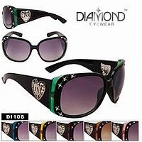 Rhinestone Bling Heart Diamond Sunglasses           #CTSW-DI108