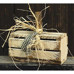 Cream White Fall Crate Pumpkin   #324