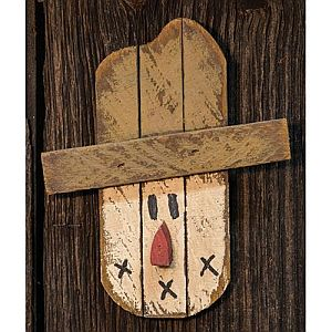 Ten Inch Wooden Fall Scarecrow Head #327