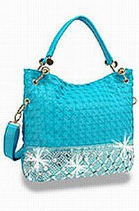 Turquoise Rhinestone Handbag           #HE-BFT-1305-TQ