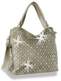 Pewter Rhinestone Handbag    #HE-BLJ-1819-PT