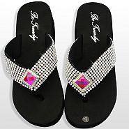Rhinestone Pink Diamond Flip Flops            #HW-FF102SSD-HP