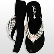 Rhinestone Light Pink Diamond Flip Flops              #HW-FF102SSDL
