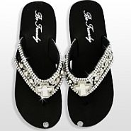 Black Cross Flip Flops                   #HW-FF103C2RS-SL
